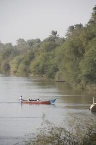 Boat on the Nile at Abu Hamad (Credit: Aziz Magid)