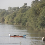 Boat on the Nile at Abu Hamad (Credit: Aziz Magid)