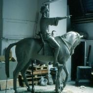 El Mahdi - life size sculpture by Dr Abdo Osman. (Credit: Rod Usher)